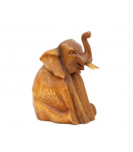 Sitting elephant figurine