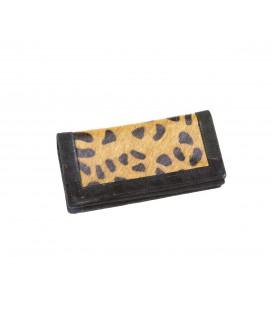 Billetero pequeño piel leopardo
