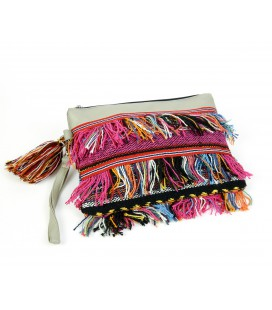 Fringed hand bag