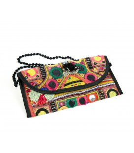 Elongated patchwork bag