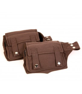 Double cotton waist bag