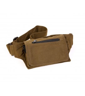 Rectangular cotton waist bag