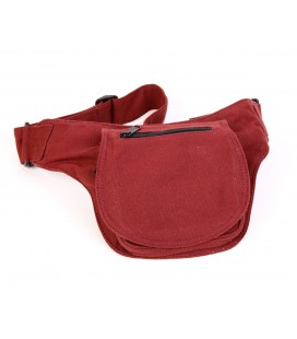 Round cotton waist bag