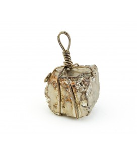 Unpolished pyrite crimped dangler