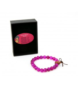 Pink agate mala bracelet