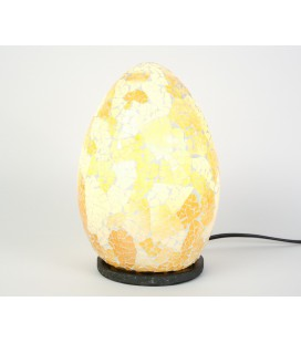 Small golden egg mosaic lamp