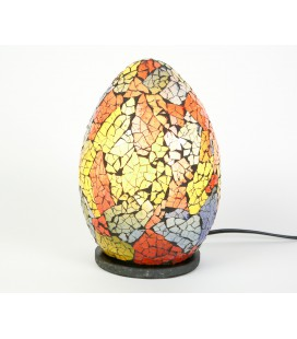 Small multicolored egg mosaic lamp
