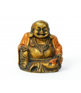 Red stone happy Buddha resins