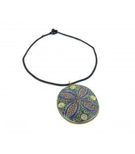 Large flower medallion necklace