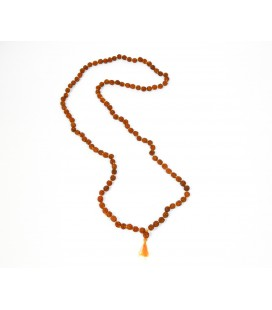 Long rudraska small seed mala necklace