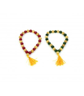 Colorful sandalwood mala bracelet
