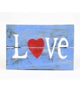 Cartel Love azul