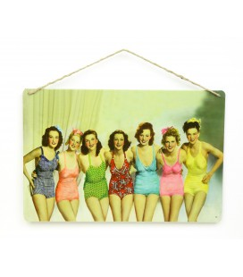 Swimsuit Girls plaque