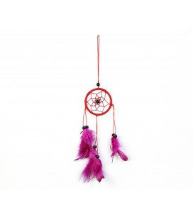 Basic red dreamcatcher with feathers