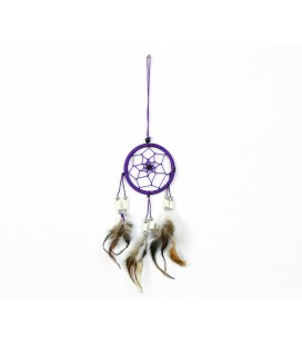 Basic lilac dreamcatcher with feathers