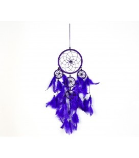 Large basic lilac dreamcatcher with feathers
