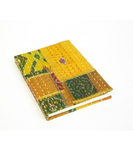 Medium yellow patchwork notebook