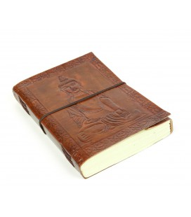 Large leather Buddha notebook