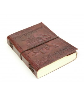 Large leather Elephant notebook