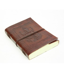 Large leather Ganesh notebook