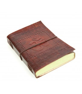 Large leather Om notebook