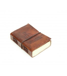 Mini leather Buddha notebook