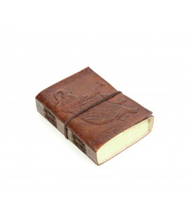 Mini leather elephant notebook