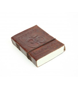 Small leather om notebook